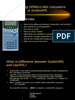 Programming HP48GX