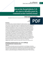 CCOM La Comunicacion Hospitalaria 2.0_un Nuevo Desafio Para La Comunicacion Institucional
