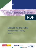 Northern Ireland Public Procurement Policy - December 2009