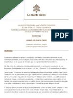Homilia Papa Francisco - San Mateo - Cuba - 21 de Septiembre de 2015