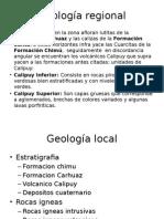 Geología regional de la MINERA HUINAC S.A.