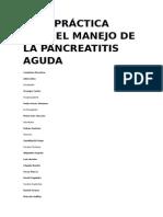 Guía Práctica Para El Manejo de La Pancreatitis Aguda