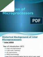 Evolution of MicroProcessor