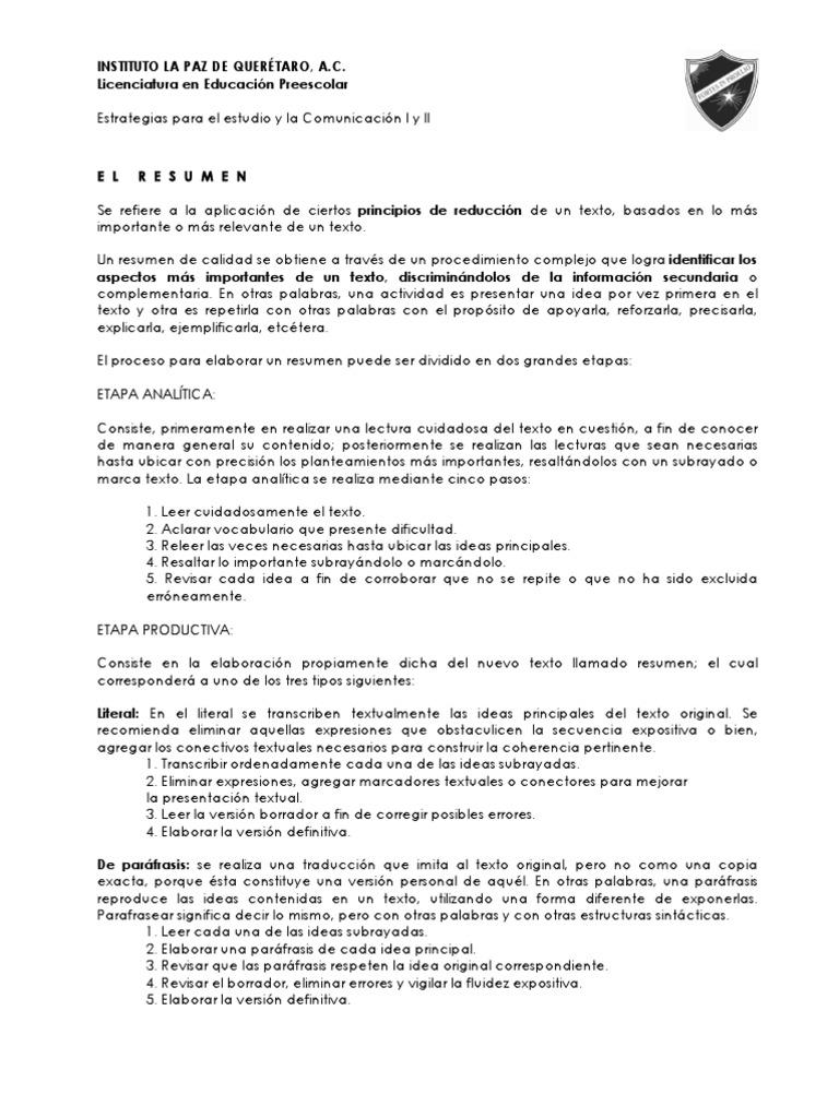 Perfecto Ideas Para Resumir Bosquejo - Colección De Plantillas De ...