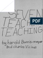 BURRIS-MEYER, Harold; VICINUS, Charles. Seven Teachers Teaching
