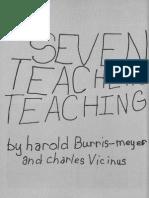 BURRIS-MEYER, Harold; VICINUS, Charles. Seven Teachers Teaching