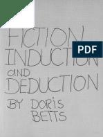 BETTS, Doris. Fiction, Induction and Deduction