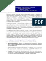 Programación Santillana (Geoehis 2eso)