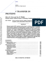 Electron transfer in proteins