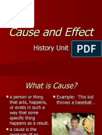 Cause and Effect Slides