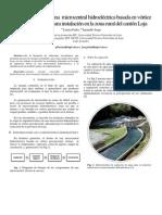 Ingeniería básica de una  microcentral hidroeléctrica basada en vórtice gravitacional para instalación en la zona rural del cantón Loja