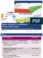 Health Insurance in Switzerland ETH