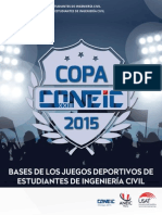 Bases Copa Coneic Chiclayo 2015