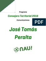 Programa José Tomás Peralta - Comunicaciones