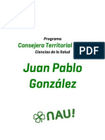 Programa Juan Pablo González - Salud