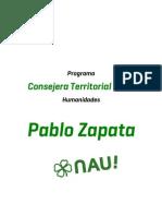 Programa Pablo Zapata - Humanidades