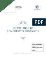 solubilidad compuestos organicos