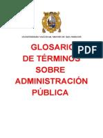 Glosario de Terminos Administrativos - u.n.m.s.m.