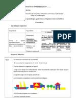 Sesion de Aprendizaje III Ciclo Estadística RUTAS 2015