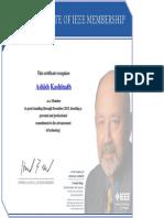 IEEE Membership Certificate