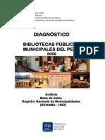 Diagnostico Bibliotecas Públicas Municipales Perú 2009