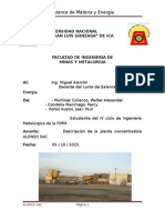INFORME N° 003 Descripcion de la planta concentradora ALONSO S.A.C Arce Ayllon Jersson- IIIciclo.docx