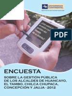 Encuesta Gestión Pública 2012[1]