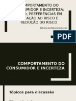 Comportamento Do Consumidor e Incerteza