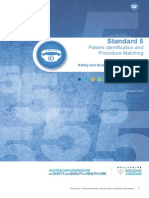 Safety and Quality Improvement Guide Standard 5 Patient Identification and Procedure Matching October 2012