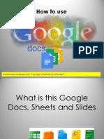 How to Use Google Docs