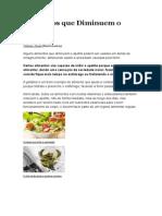 Alimentos Que Diminuem o Apetite