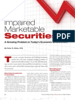 Impaired Marketable Securities - A Growing Problem