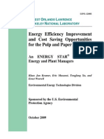 Energy Efficiency Improvement Cost Saving Opportunities