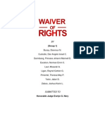 Waiver of Rights Report