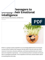 Teaching Teenagers to Develop Their Emotional Intelligence