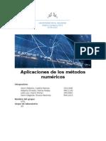 Aplicaciones de los métodos numéricos en las ciencias.