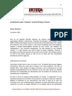 """La Historia como """"sistema"""" en José Ortega y Gasset."""