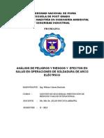 Análisis de Seguridad y Salud Ocupacional en Talleres de La Carrera de Mecánica de Producción Del I