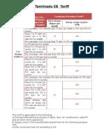 Tamilnadu EB Tariff