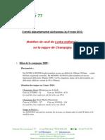 Persistance sécheresse Champigny