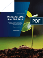 Wonderful SME Sdn. Bhd. - Illustrative Financial Statements 2016