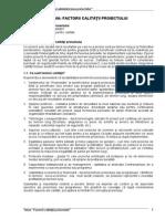 Tema 3. Factorii Calitativi Ai Proiectului