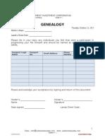 Genealogy Addendum