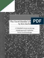Tarot readers notes