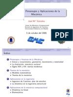 Personajes Principios y Aplicaciones Mecanica Clasica