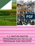 Revolusi Pertanian & Industri