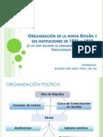 Organización de La Nueva España y Sus Instituciones