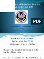 An Overview of Rajasthan Societies Registration Act 1958