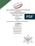 constitucionalismo ambiental en el Perú y el derecho comparado.