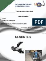 Diapositivas, Elemntos de Maquina- Resortes